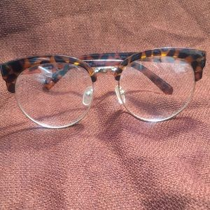 Leopard Non prescribed oversize reading glasses